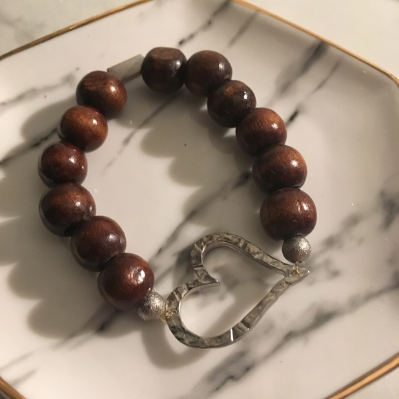 Sale Alexas Angels Wooden Heart Bracelet